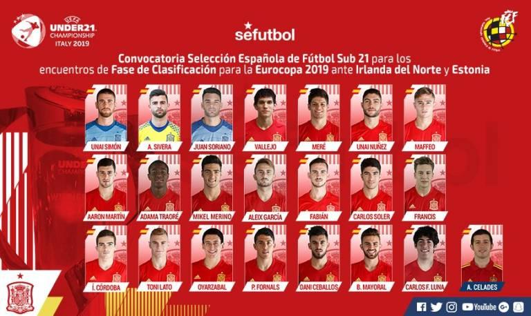 Карлос Солер, Антонио Латорре и Антонио Сивера вызваны в молодежную сборную Испании